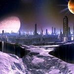 Фотообои Космический город