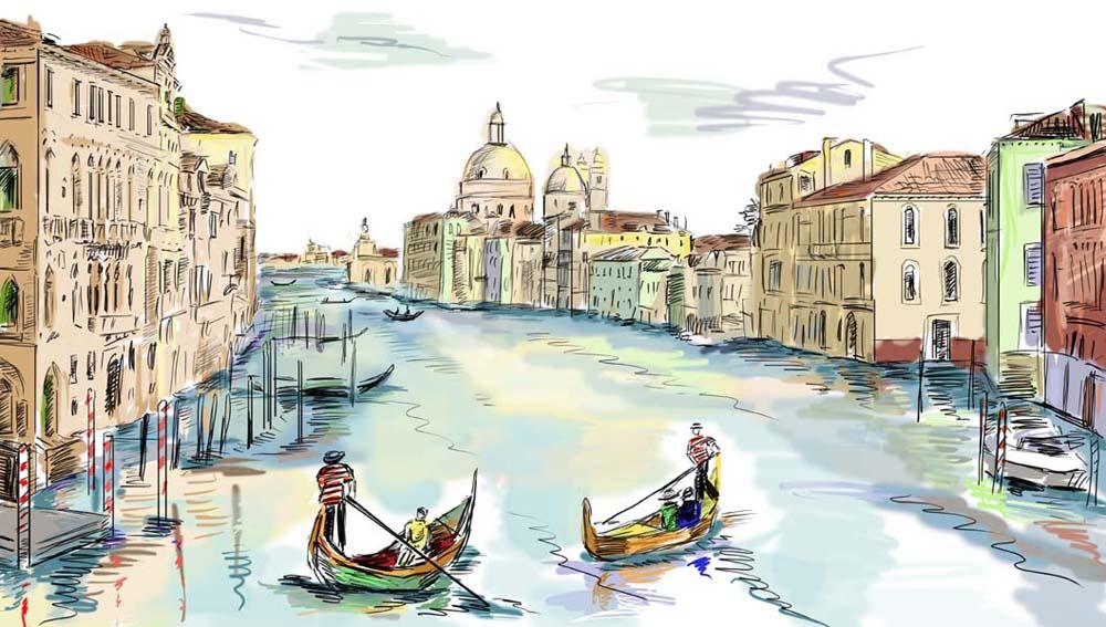 Рисунки городов италии