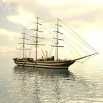 Фотообои Корабль в море