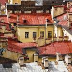 Фотообои крыши Санкт-Петербурга