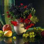 Цветы и фрукты холст 2