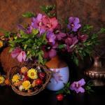 Цветы и фрукты холст 7